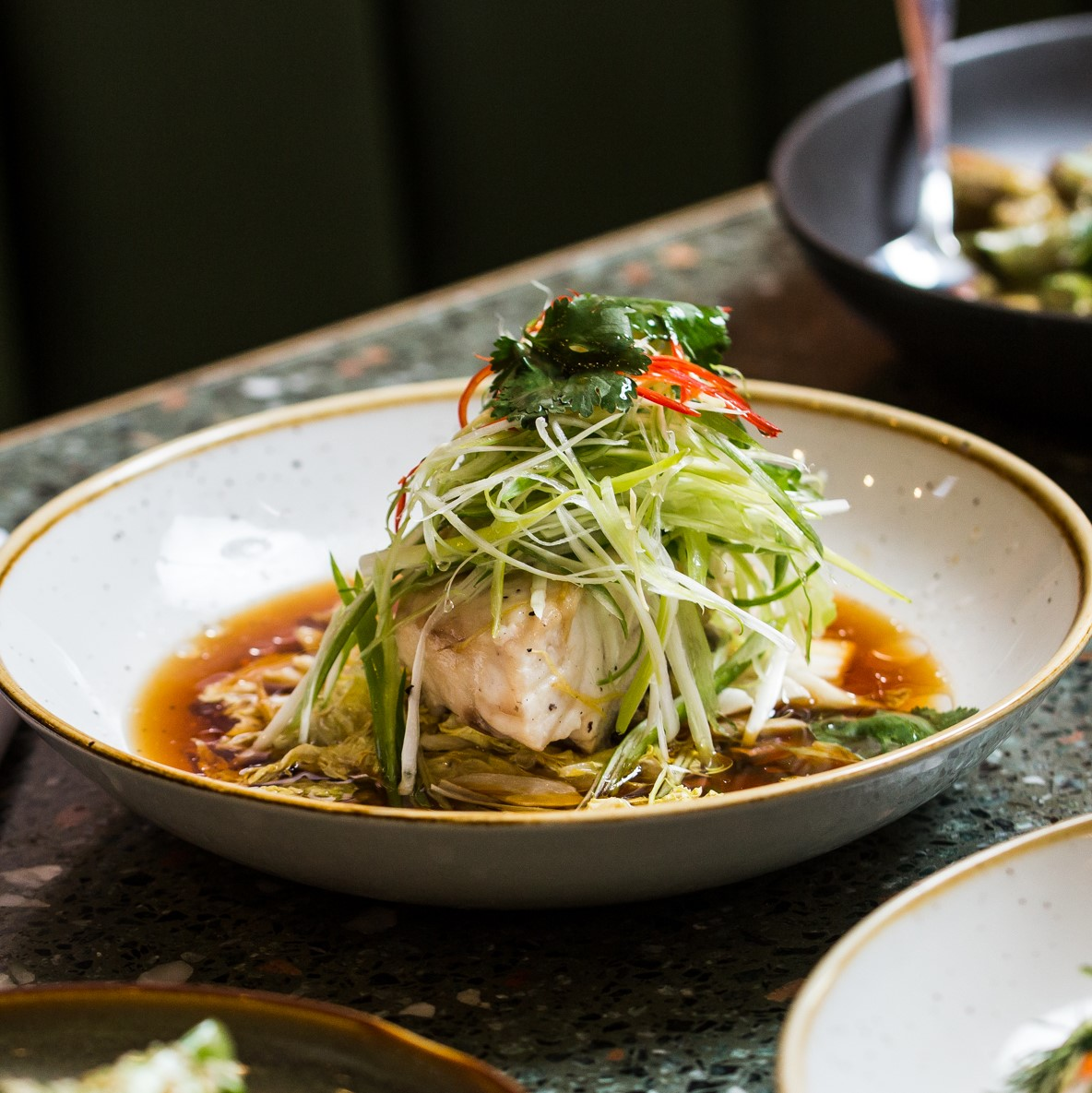 Steamed Snapper Fillet | soy, ginger, shallot, chilli & coriander | 29
