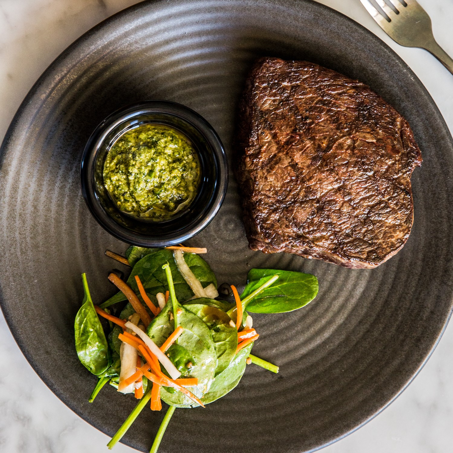 300g Rangers Valley Rump Steak | Asian pesto & salad (GF) | 34